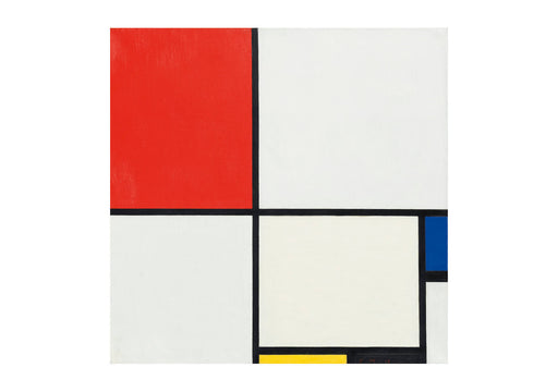 Piet Mondrian - Composition No III with red blue yellow and black