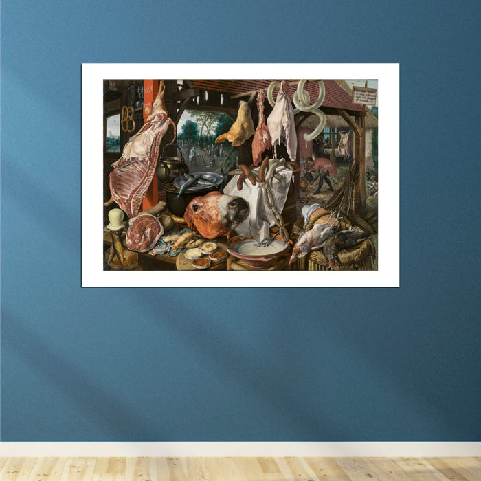 Pieter Aertsen - A Meat Stall With The Holy Family