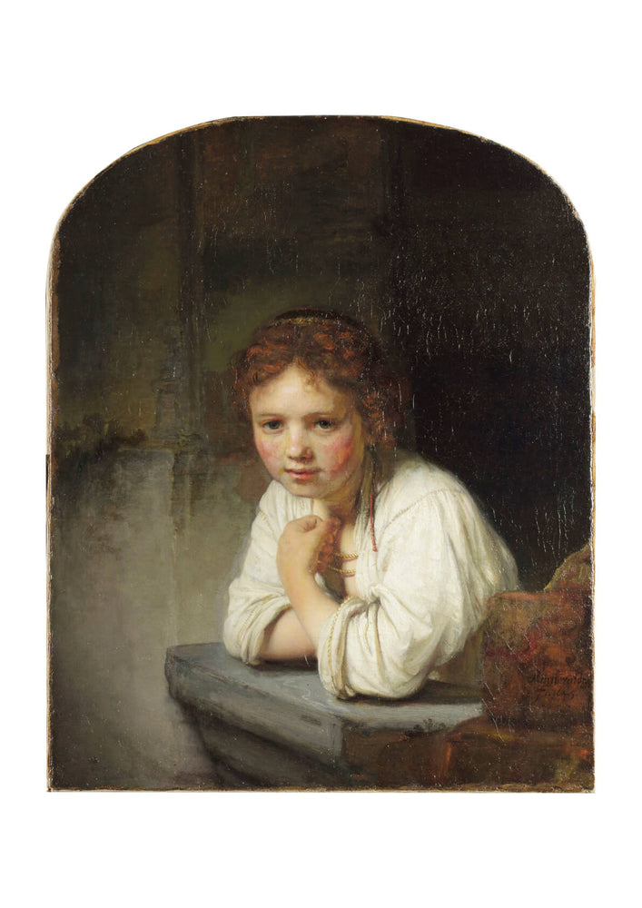 Rembrandt Harmensz van Rijn Girl at a Window