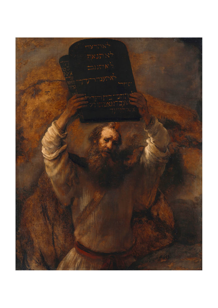 Rembrandt Harmenszoon van Rijn - Moses with the Ten Commandments
