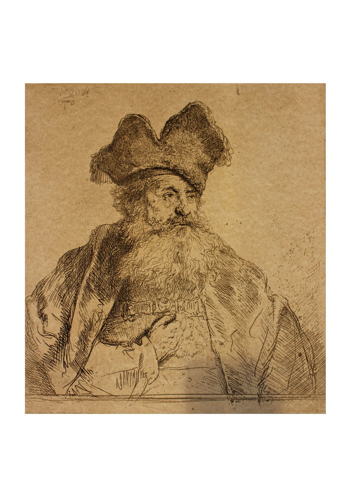 Rembrandt Harmenszoon van Rijn - Old Man with a Divided Fur Cap