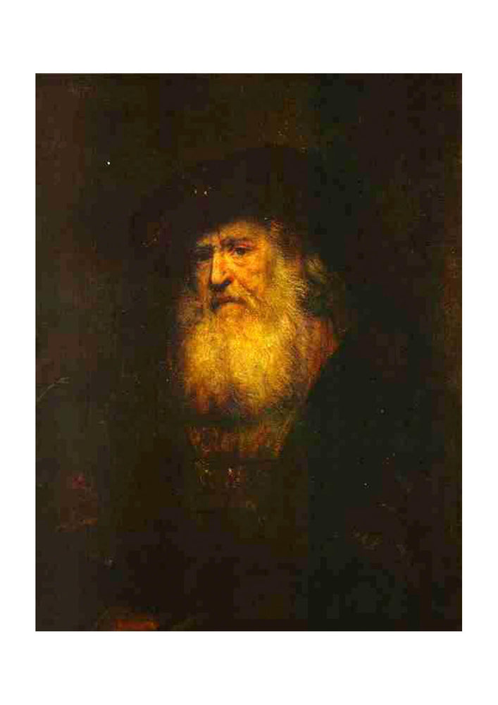 Rembrandt Harmenszoon van Rijn - Portrait of a Bearded Man in Beret
