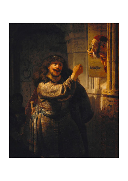 Rembrandt Harmenszoon van Rijn - Samson threatened his father in law