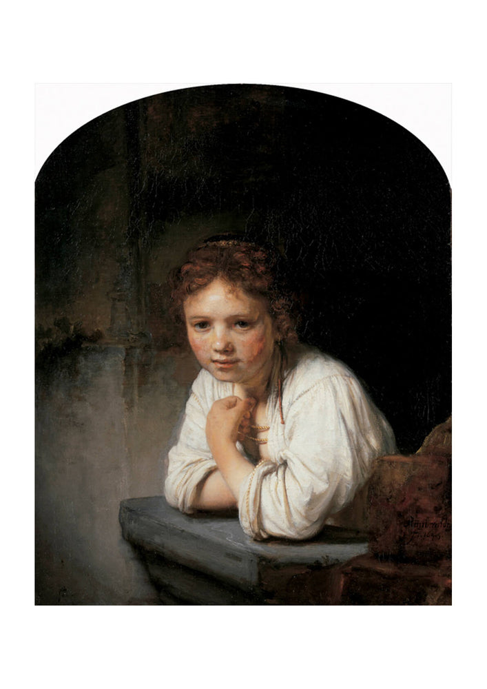 Rembrandt Harmenszoon van Rijn A Girl at a Window