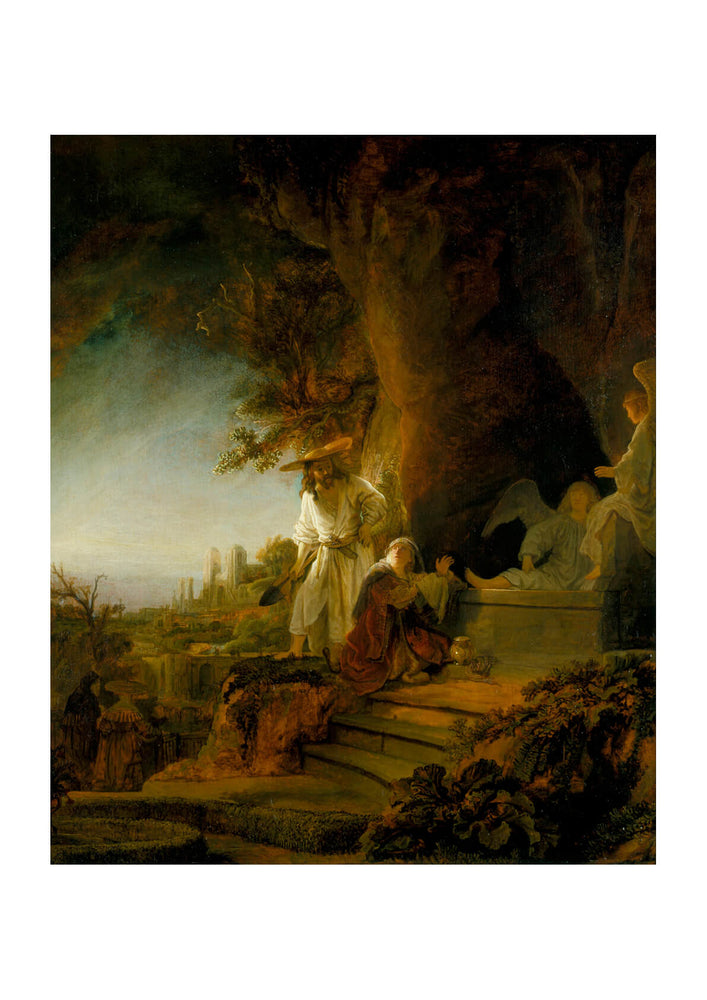 Rembrandt Harmenszoon van Rijn Christ and St Mary Magdalen at the Tomb