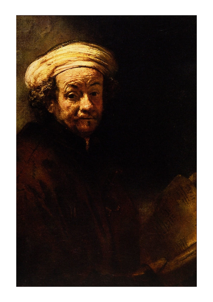 Rembrandt Harmenszoon van Rijn Self Portrait as the Apostle St Paul