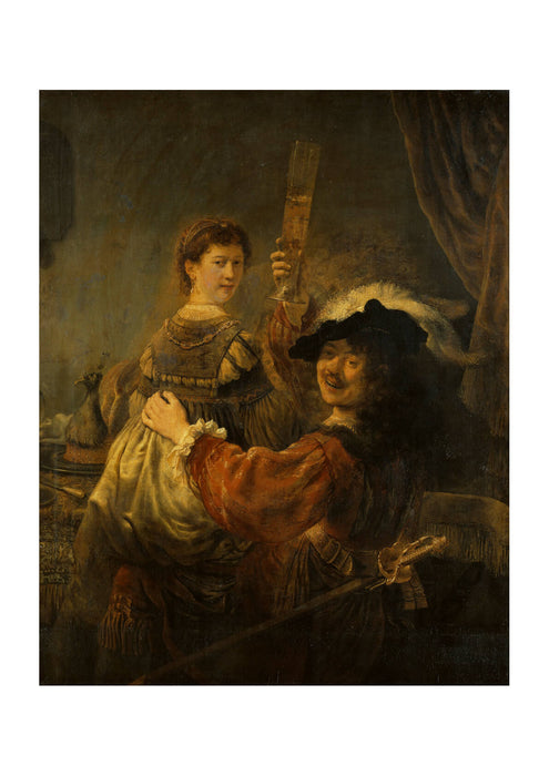 Rembrandt Harmenszoon van Rijn and Saskia in the Scene of the Prodigal Son