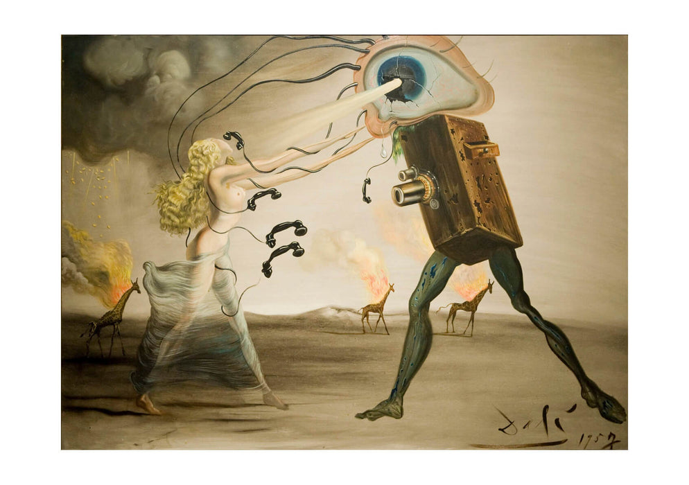 Salvador Dali - Burning Giraffes and a Telephone