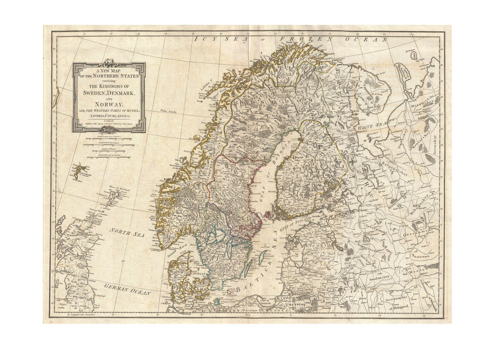 photograph regarding Scandinavia Map Printable referred to as Scandinavia Map Norway, Sweden, Denmark, Finland 1794