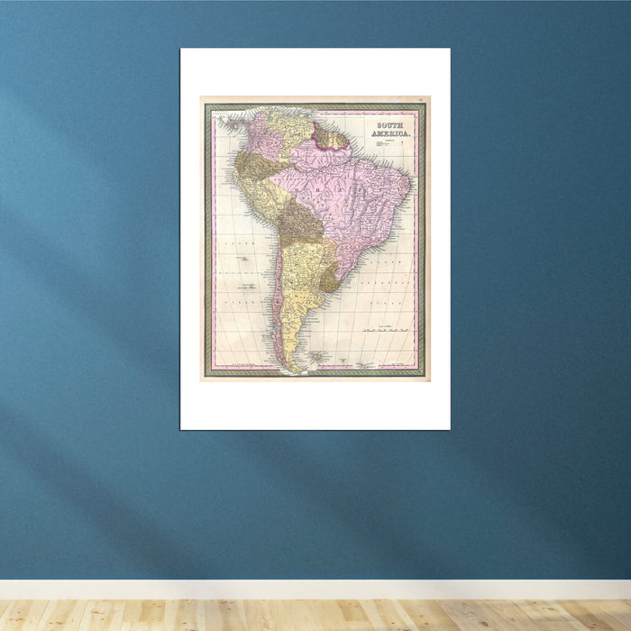 South America Map Mitchell 1850