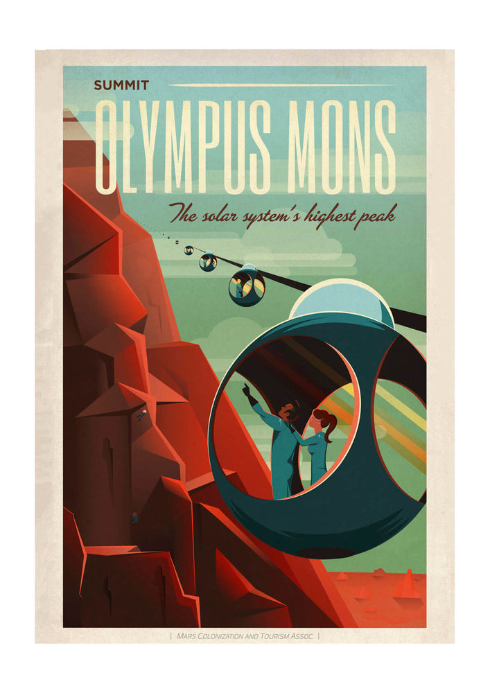SpaceX Mars - Olympus Mons Space Tourism