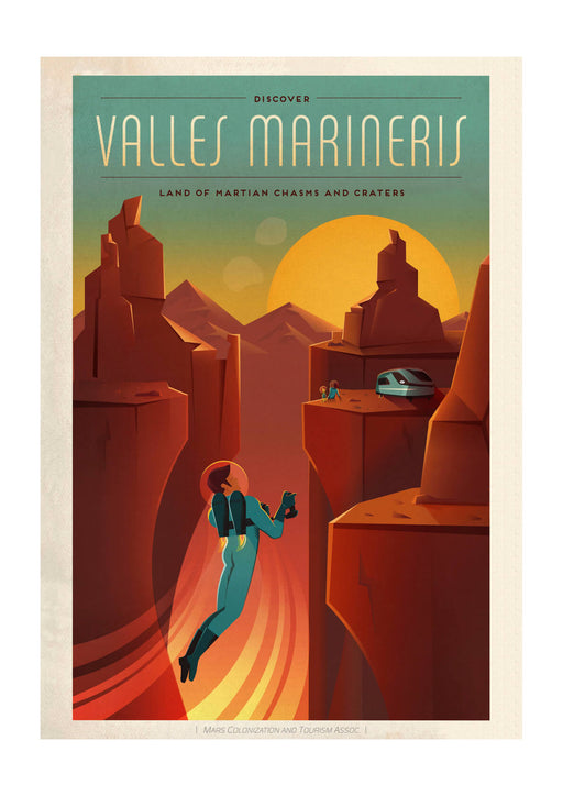 SpaceX Mars - Valles Marineris Space Tourism