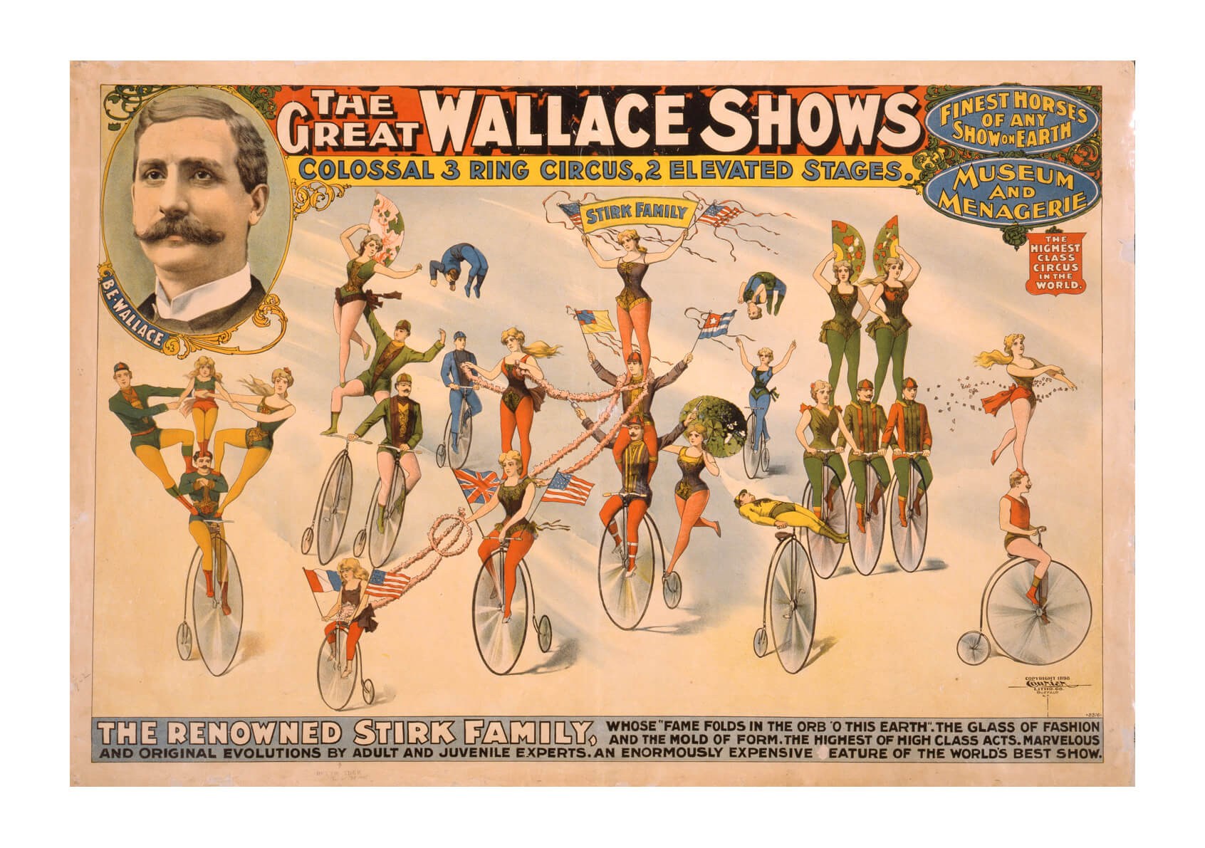The Great Wallace Shows circus poster