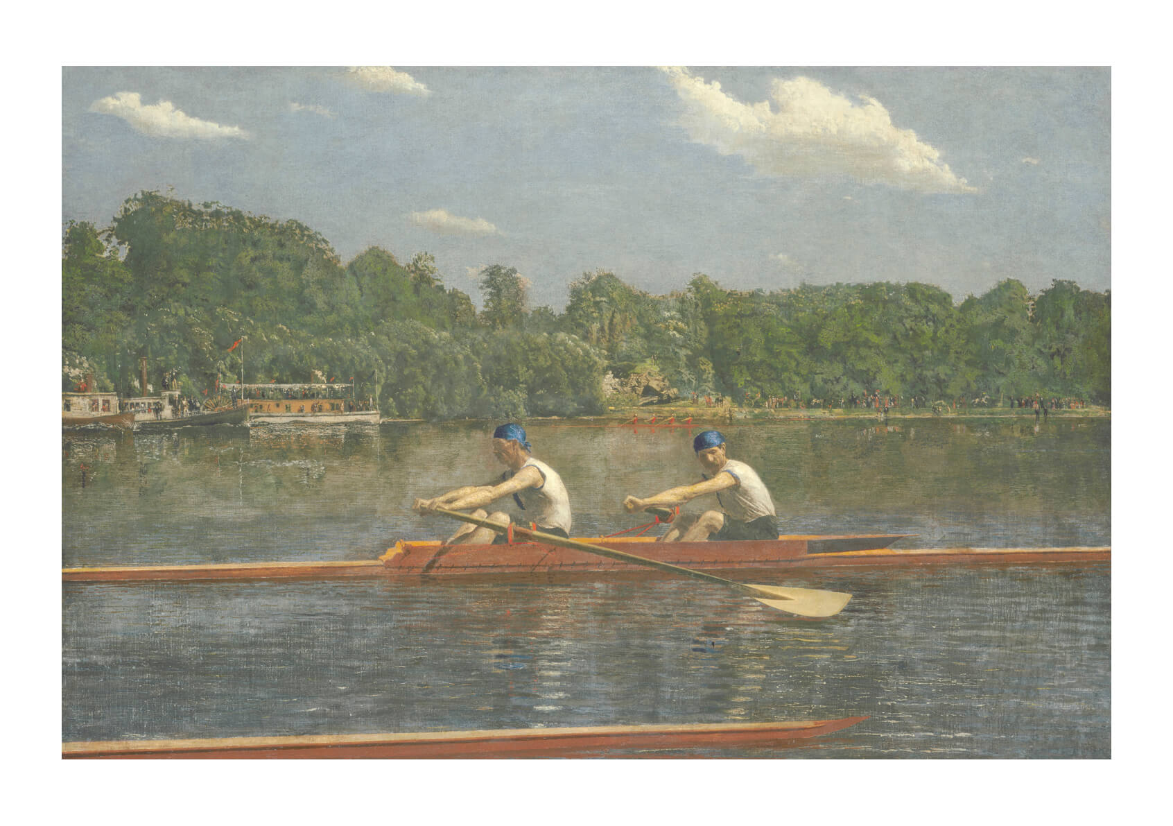 Thomas Cowperthwait Eakins - The Biglin Brothers Racing