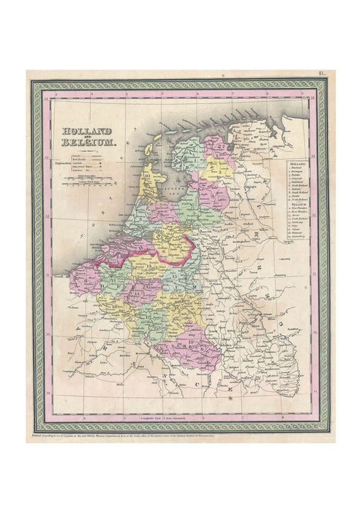 Thomas Eakins - Mitchell Map of Holland and Belgium