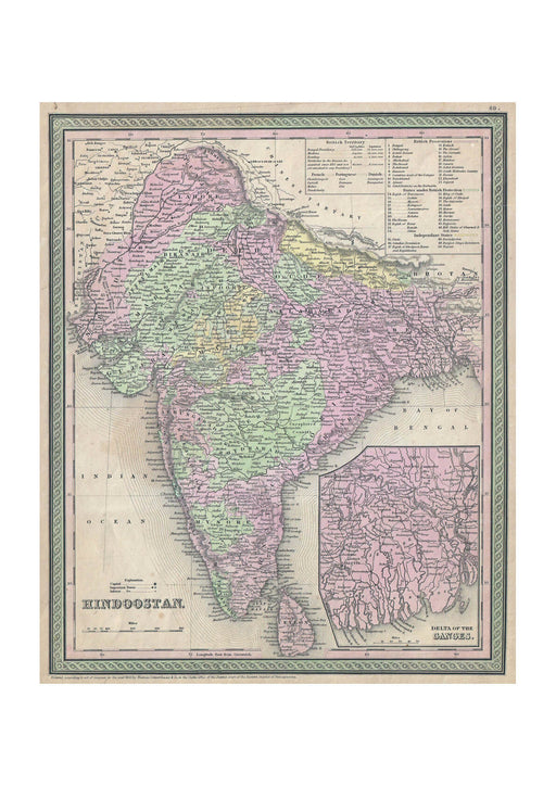 Thomas Eakins - Mitchell Map of India
