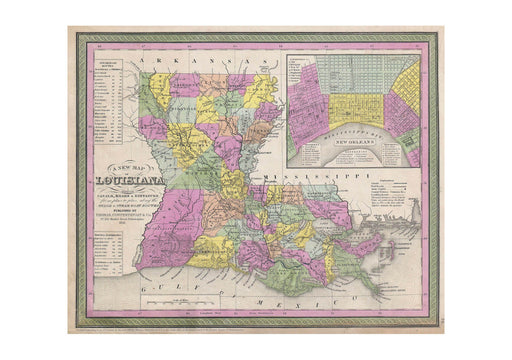 Thomas Eakins - Mitchell Map of Louisiana