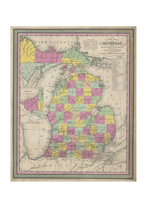 Thomas Eakins - Mitchell Map of Michigan