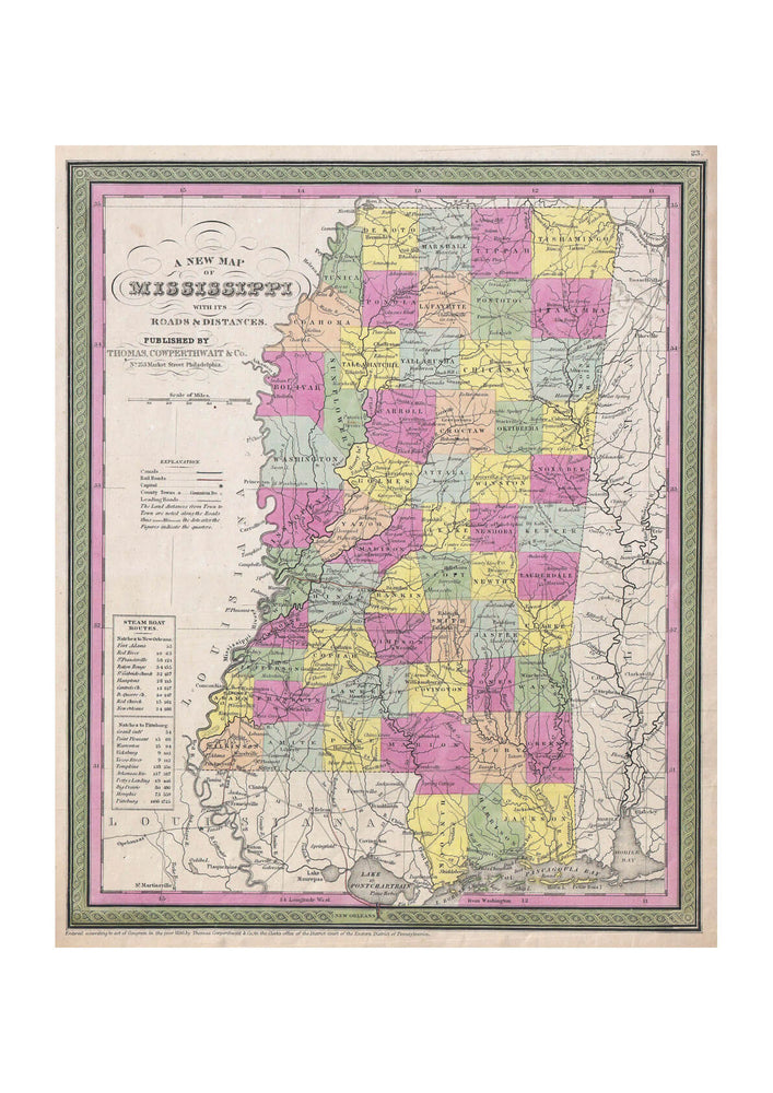 Thomas Eakins - Mitchell Map of Mississippi