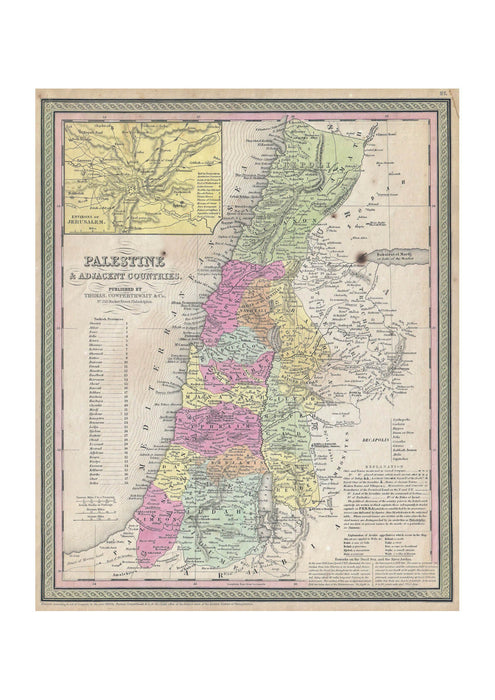 Thomas Eakins - Mitchell Map of Palestine Israel and the Holy Land
