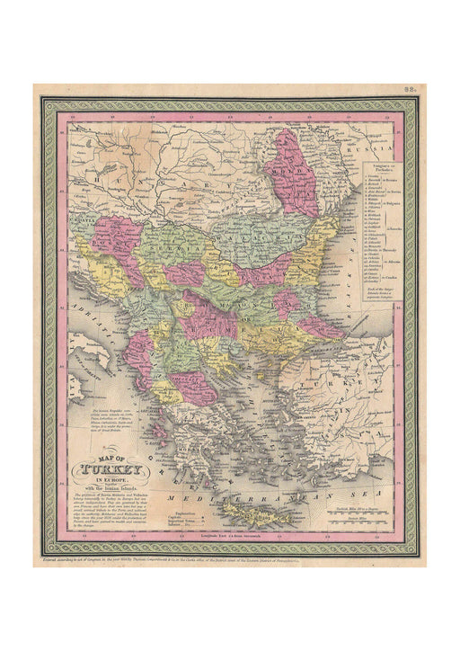 Thomas Eakins - Mitchell Map of Turkey in Europe