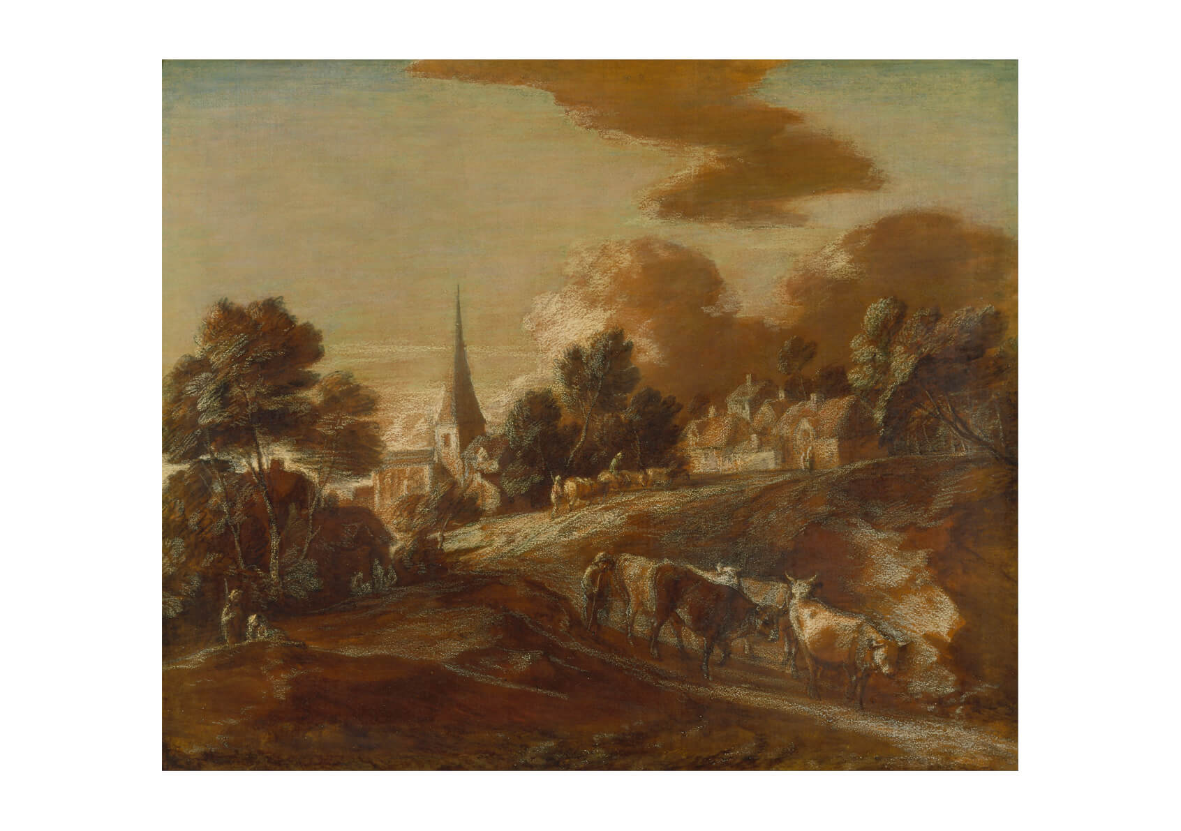 Thomas Gainsborough - An Imaginary Wooded Village