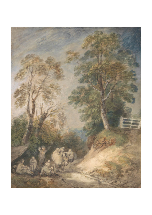Thomas Gainsborough - Country Lane with Gypsies Resting