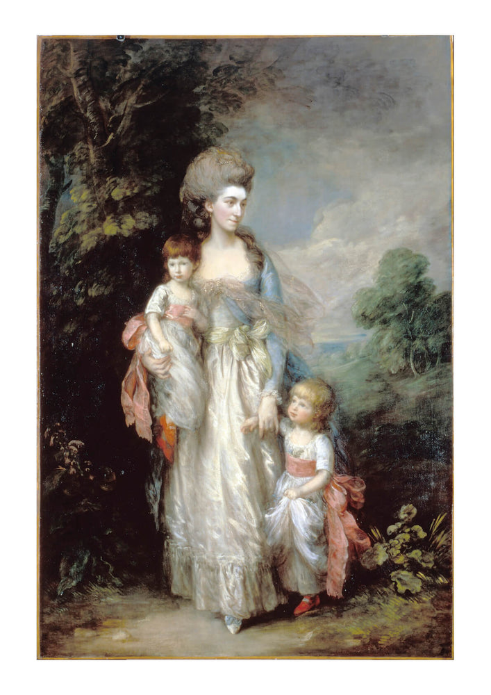 Thomas Gainsborough - Mrs Elizabeth Moody with her sons