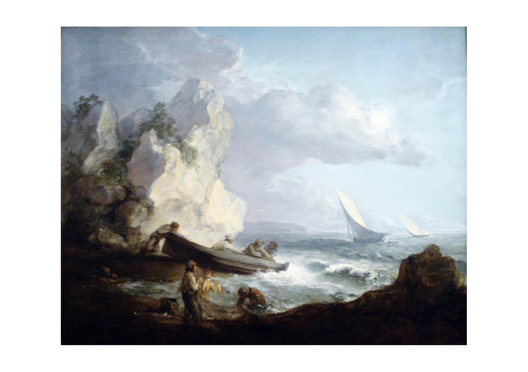 Thomas Gainsborough - Seashore with Fishermen