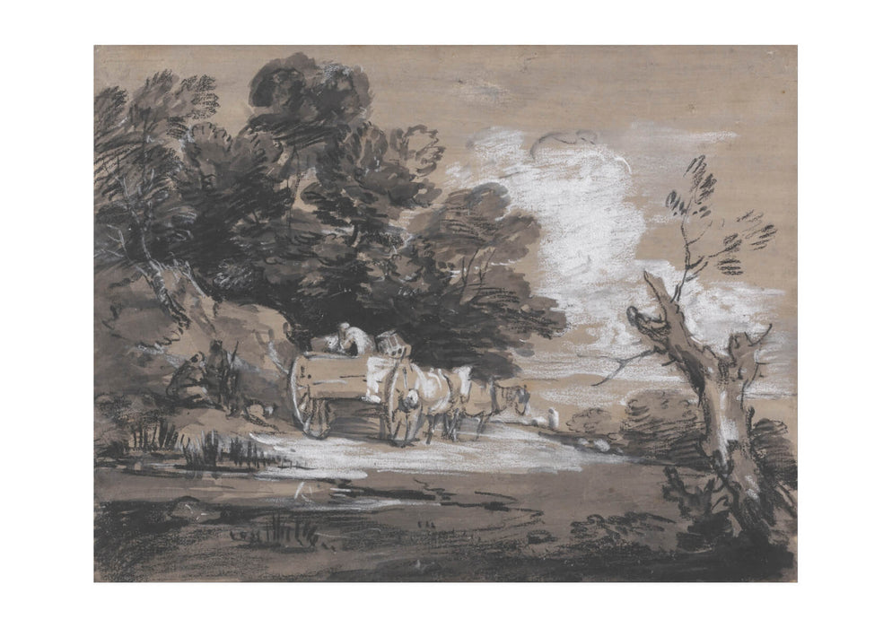 Thomas Gainsborough - Wooded Landscape with Country Cart