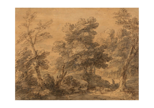 Thomas Gainsborough - Wooded Landscape with Shepherd and Sheep