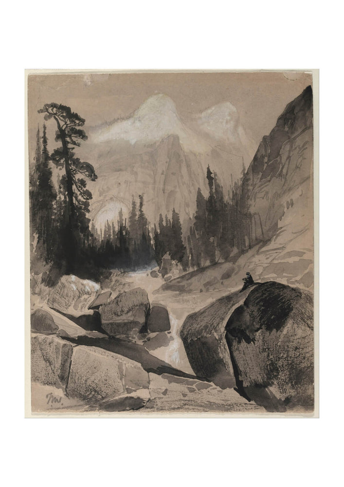 Thomas Moran - The North Dome Yosemite California