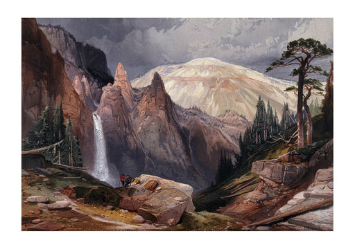 Thomas Moran - Tower Falls and and Sulphur Mountain