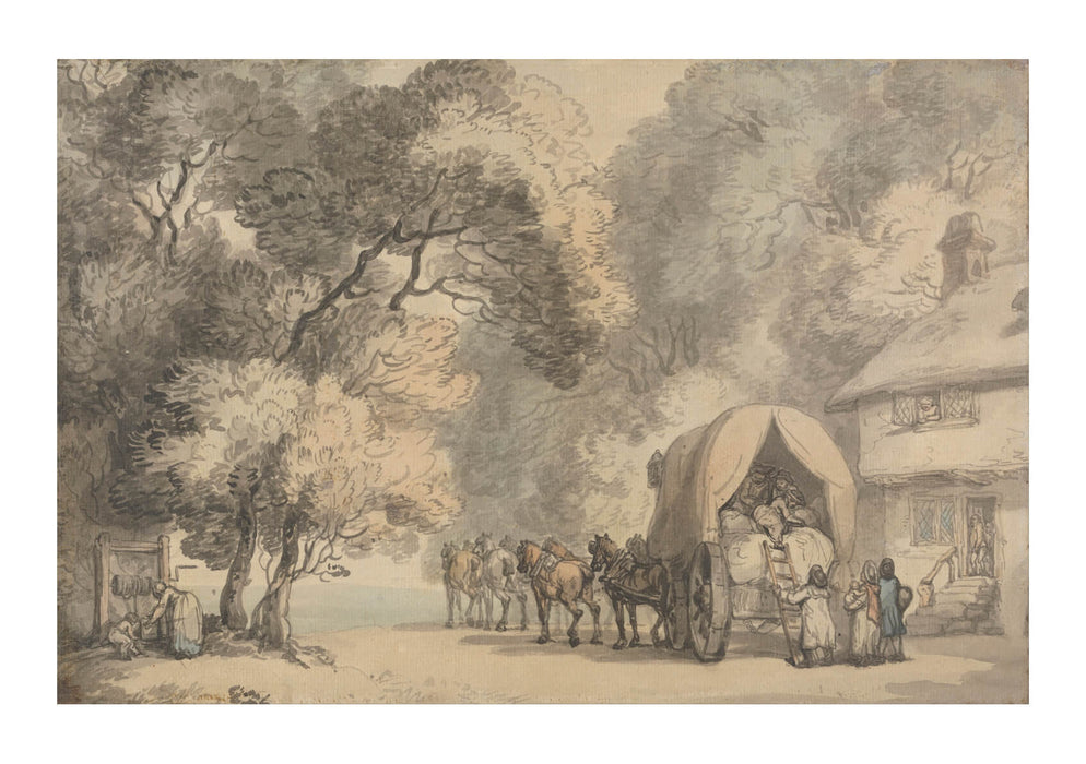 Thomas Rowlandson - A Carrier's Waggon