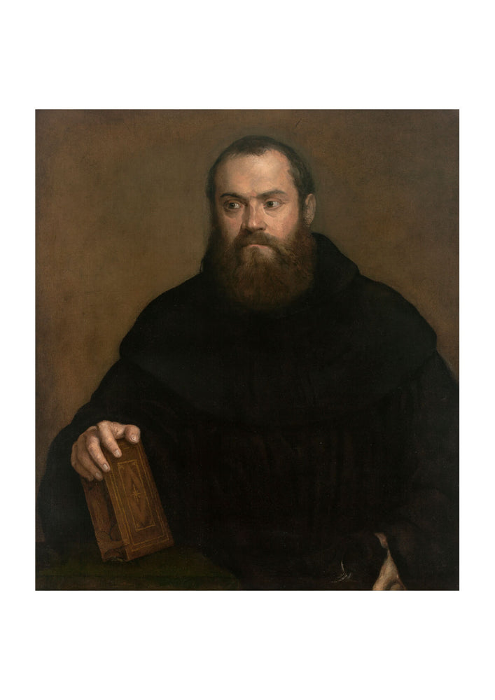 Titian - A monk with a book