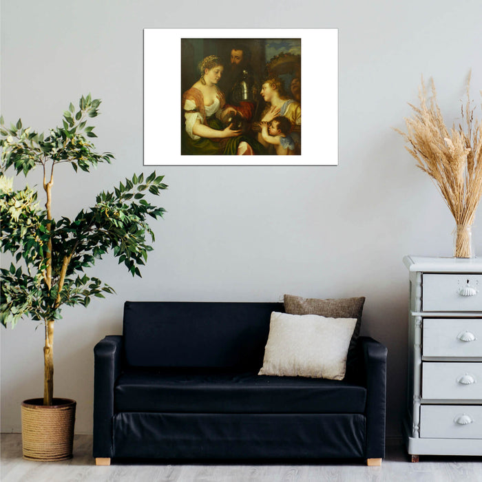 Titian Conjugal allegory Louvre Wall Art Poster Print