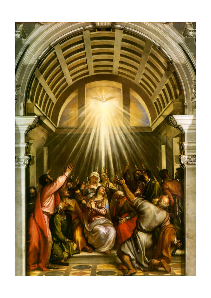 Titian - Descent of the Holy Spirit Holy Ghost Pentecost
