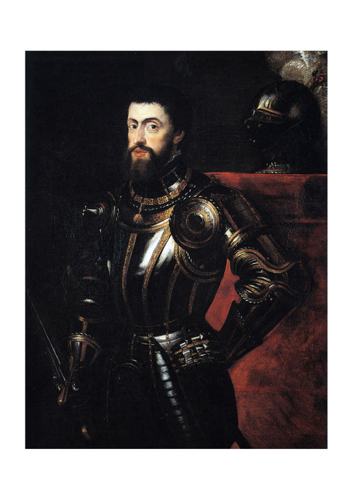 Titian - Peter Paul Rubens Charles V in Armour