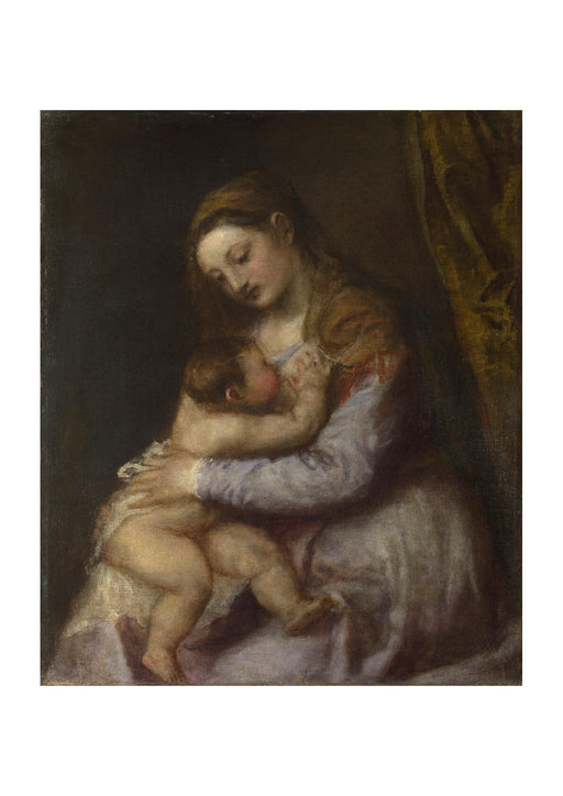 Titian - The Virgin suckling the Infant Christ