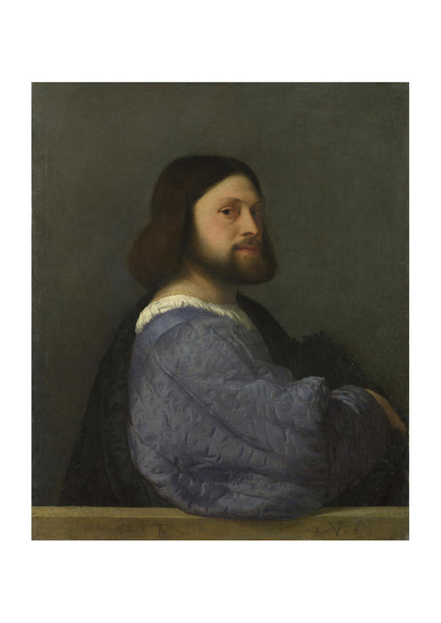 Titian A Man with a Quilted Sleeve