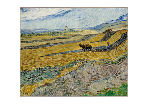 Vincent Van Gogh - Enclosed Field with Ploughman, 1889