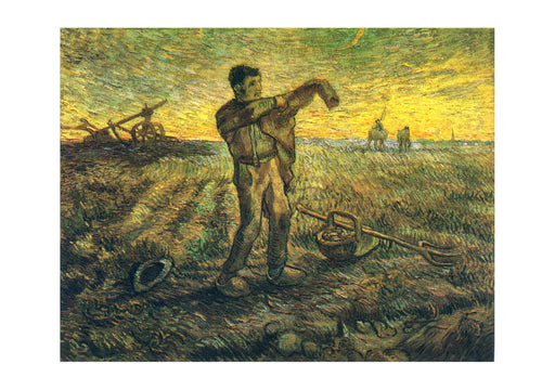 Vincent Van Gogh - Evening - The End of the Day (after Millet), 1889