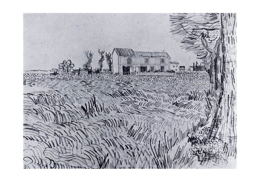 Vincent Van Gogh - Farmhouse in a Wheat Field, 1888