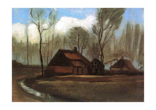Vincent Van Gogh - Farmhouses among Trees, 1883
