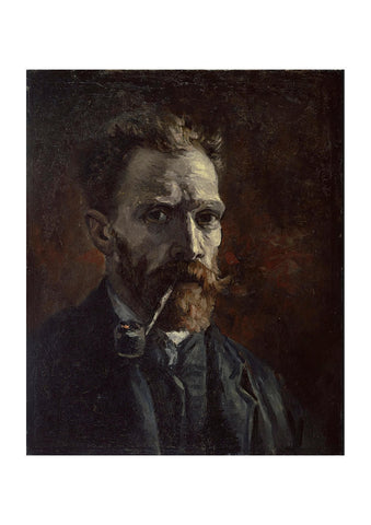 Vincent Van Gogh - Self Portrait with Pipe, 1886