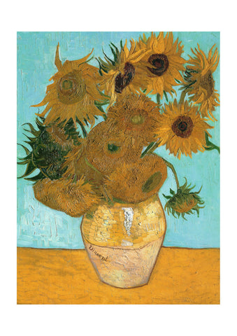 Vincent Van Gogh - Still Life - Vase with Twelve Sunflowers, 1889