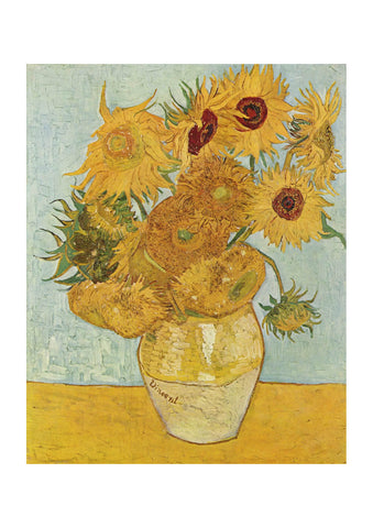Vincent Van Gogh - Vase with 12 Sunflowers