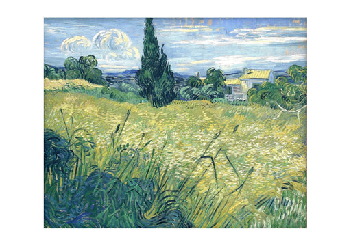 Vincent Van Gogh Green Wheat Field with Cypress, 1889