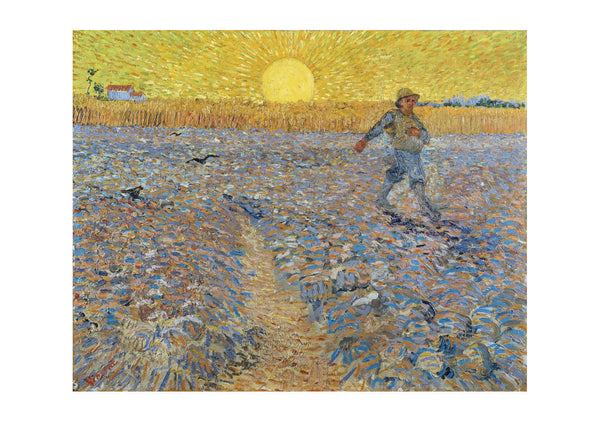 Vincent Van Gogh Sower with Setting Sun (after Millet), 1888