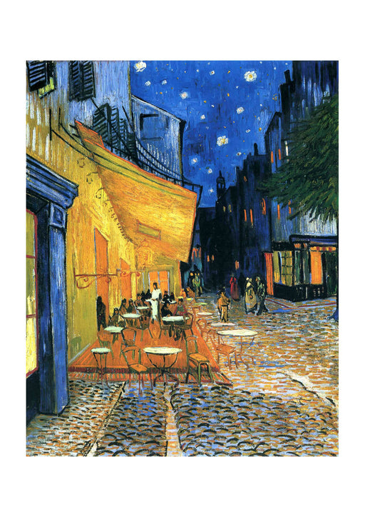 Vincent Van Gogh The Cafe Terrace on the Place de Forum in Arles at Night, 1888